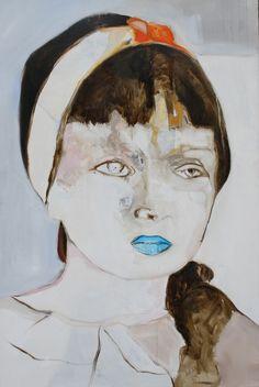 "Saatchi Online Artist: Patricia Derks; Oil, Painting ""GIRL"" #art"