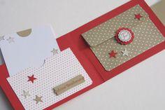 Weihnachtskarten - Geldbörse, Karte, Geldgeschenk * Weihnachten - ein Designerstück von Das-Werk-der-Feen bei DaWanda