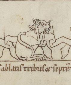 Discarding images -  medieval maneki-neko look-alike to celebrate Cat Day in Japan -  Gregory the Great, Moralia in Job, Affligem 12th century (BnF, Latin 15675, fol. 8v)