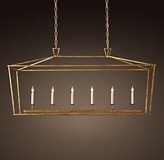 Dining? Gold to contrast windows? 19Th C. English Openwork Lantern   Restoration Hardware