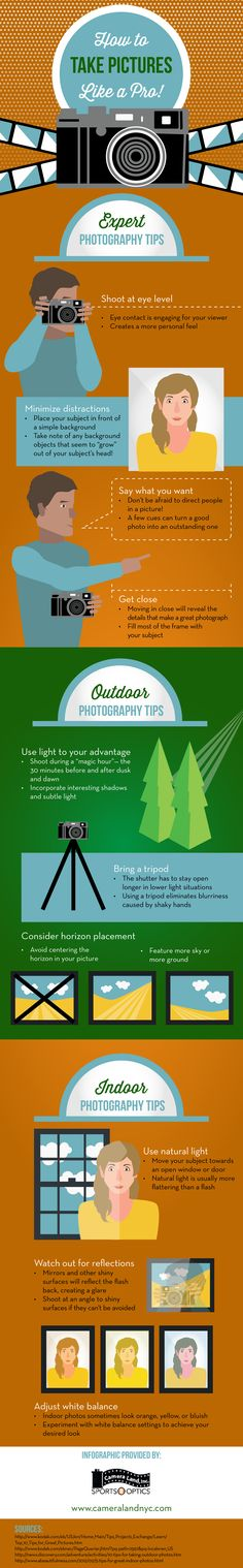 How To Take Pictures Like A PRO - Infographic http://madgraphs.com/pictures-pro/
