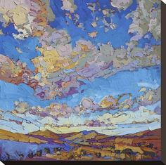 Stretched Canvas Print: Driving Sky by Erin Hanson : 16x16in