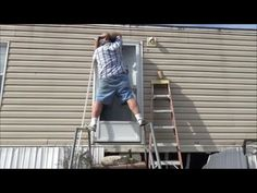 Window replacement in a mobile home Leaks How to Repair   Mobile     Manufactured Mobile Home Door Replacement And Floor   Sill Damage Repair    YouTube
