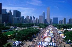Chicago. Blues Festival. Architectural boat tour. Kingston Mines. Piano Bars. Million dollar mile