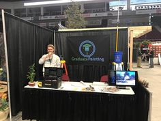 Come see us at the Bangor Garden Show!  Dillon pictured here takes his first of many many sips of coffee that will get him through the long weekend.