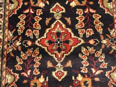 """How does one start searching for a rug? Measure your space, then pick a style Think of other colors already in the same room!  This Hamadan  3'6"""" x 2'6'"""" Small Carpet is from Iran .  Item #21708 @ babaksorientalcarpets.com Ancient Persia, Medium Long, Red Background, Persian Rug, Iran, Rugs On Carpet, Searching, Knots, Bohemian Rug"""