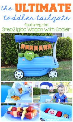 Plan the ultimate toddler tailgate with the Step2 Igloo Wagon with Cooler - fun snacks and drinks can be packed inside the awesome cooler bag hidden inside the wagon.