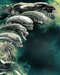 Alien Vs Predator, Predator Movie, Predator Alien, Giger Art, Hr Giger, Arte Alien, Alien Art, Alien Film, Science Fiction