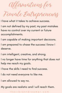 Are you a female entrepreneur who has trouble staying motivated and inspired? Check out these ten affirmations for female entrepreneurs to help get you back on track! Affirmations Louise Hay, Affirmations For Women, Daily Positive Affirmations, Positive Affirmations Quotes, Words Of Affirmation, Positive Quotes, Affirmations For Success, Miracle Morning Affirmations, Affirmations Confidence
