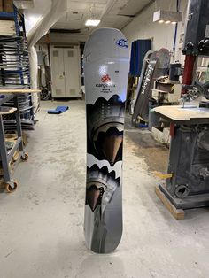 Custom snowboard made for Cargolux. It's a real cool photos of the Jet engines.