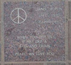 Janis Joplin memorial; her ashes were scattered from a plane into the Pacific Ocean along Stinson Beach.