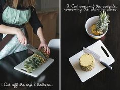 Butter with a Side of Bread, how to cut a pineapple Easy Family Meals, Family Recipes, Cut Pineapple, Before Christmas, Apron, Butter, Bread, Fruit, Kitchen Tips
