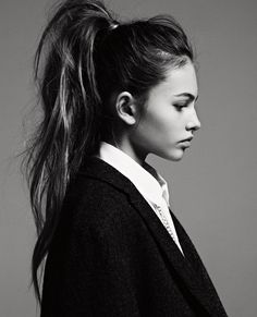new heights. high ponytail with tons of natural texture.