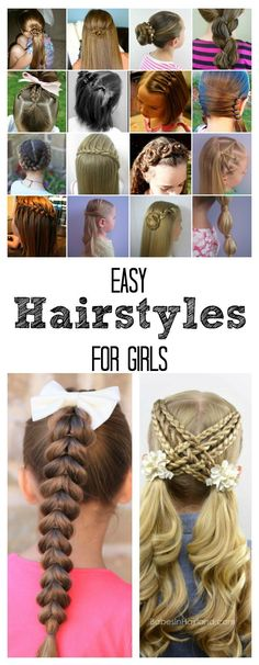 Easy Hairstyles for Girls | Sharing over 25 hair tutorials so that you can re-create these fun hairstyles for your own girls.