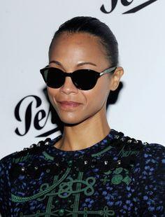 2f90ae55f51 Zoe Saldana in Persol sunglasses Celebrity Sunglasses