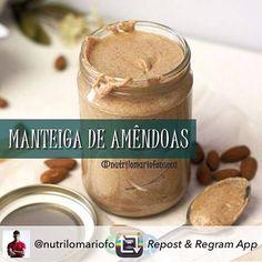 Repost from @nutrilomariofonseca using @RepostRegramApp - MANTEIGA (OU PATÊ) DE AMÊNDOAS INGREDIENTES: -02 xicaras de amêndoas (400 gramas) -01 pitada de sal -01-02 colheres de sopa de Óleo de coco MODO DE PREPARO: Pré-aquecer o forno a 200 graus. Torrar as amêndoas durante 10 minutos retirando-as do forno e deixar arrefecer. Colocar as amêndoas num processador de alimentos e bater com o sal e o óleo de coco durante 15 minutos até obter uma pasta macia. Durante este processo parar o…