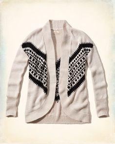 Chevron Cocoon Sweater