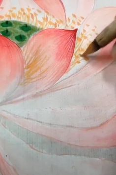 Abstract Watercolor, Watercolor Flowers, Watercolor Paintings, Original Paintings, Drawing Flowers, Lotus Flower Pictures, Lotus Flowers, Nature Photography Flowers, Lotus Painting