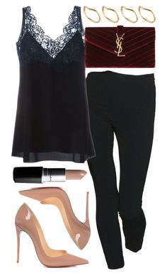 """""""Look #450"""" by foreverdreamt ❤ liked on Polyvore featuring Moschino, Chloé, Yves Saint Laurent, Christian Louboutin, ASOS, MAC Cosmetics, women's clothing, women, female and woman"""