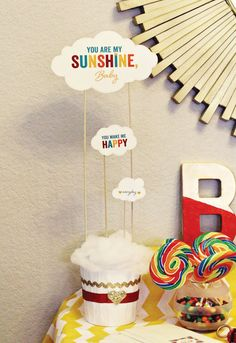 Retro Rainbow Baby Shower {Using HWTM Printables!}