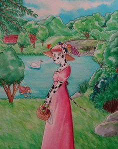 Dalmatian in a dress