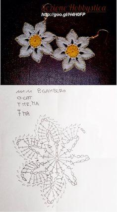 Watch The Video Splendid Crochet a Puff Flower Ideas. Phenomenal Crochet a Puff Flower Ideas. Crochet Earrings Pattern, Crochet Jewelry Patterns, Crochet Flower Patterns, Crochet Bracelet, Crochet Accessories, Crochet Flowers, Flower Applique, Crochet Diagram, Crochet Chart