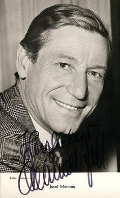 Josef Meinrad, Austrian Actor, 1913-1996.