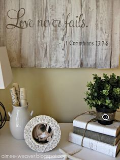 Reclaimed wood scripture wall hanging