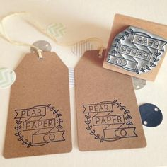"""""""Ooh loving my new logo stamp from @englishstamp, definitely recommend them! Stamping everything in sight..."""" Pear Paper Co"""