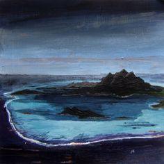 John Hainsworth, landscape artist: Veil    Oil and Acrylic on Aluminium     10x10cm    2011