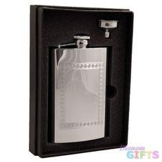 Visol Theseus 8 oz Stainless Steel Flask Gift Set