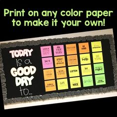 Bulletin Board Kit: Today is a Good Day by Rise over Run Guidance Bulletin Boards, Science Bulletin Boards, Bulletin Board Design, Christmas Bulletin Boards, Music Bulletin Boards, Winter Bulletin Boards, Reading Boards, Reading Bulletin Boards, School