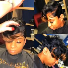 Short Quick Weave Hairstyles, Cute Hairstyles For Short Hair, Wig Hairstyles, Curly Hair Styles, Natural Hair Styles, Short Weave, Pixie Styles, Nike Flex, Nike Sb