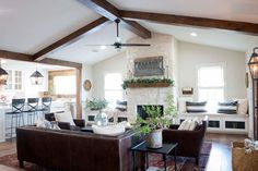fixer upper dining rooms, living rooms and kitchens {get the fixer upper look!}
