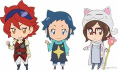 "SD character Sei, Reiji, China and Aila appeared in the ""Gundam ..."