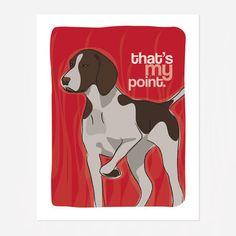 German Pointer Art Print