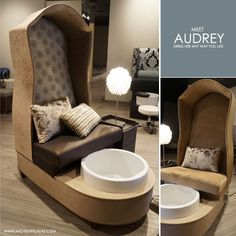 Michele Pelafas: New to Market: Audrey Pedicure Chair