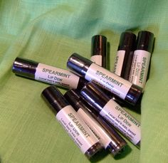 Spearmint Lip Dew Lip Balm All Natural Local Bees by KitchenWitch1, $3.25 #pcfteam