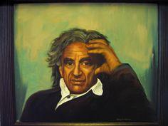 Elie Wiesel Oil Painting by Nansy N.Pedersen