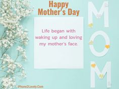 Happy Mother's Day 2016 Love Quotes, Wishes and Sayings with Images. Best MOM Quotes, Greeting Cards, Poems and Gift Ideas from Son and daughter for