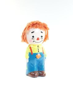 SALE Vintage Raggedy Andy Coin Bank  Porcelain by VintageOnHudson, $18.00