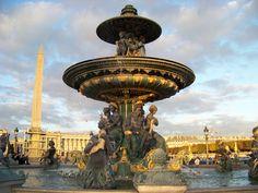 Paris fountain - inspiration for the new Memoires de Paris collection.