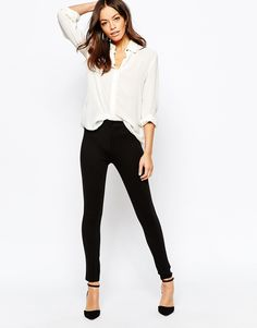New Look Fly Front Treggings