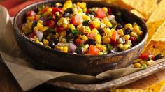 Try our NEW recipes for our NEW line of Seasoned Steamers. Deliciously seasoned Honey Roasted Sweet Corn mixed into a healthy salsa for easy eating with tortilla chips.