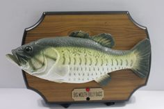 Big Mouth Billy Bass Singing Fish Motion Activated  #Gemmy Singing Fish, Bass, Free Shipping, Cabins, Man Cave, Decor, Decoration, Flat, Cottages