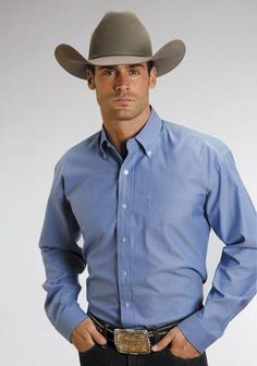 Stetson Mens Blue Cotton L/S Light Oxford Pinpoint BD Western Shirt For high quality, traditional, western apparel with lasting style, look no further than Stetson. Show off your western style in this cotton mens long sleev Cowboy Outfits, Western Outfits, Western Shirts, Western Apparel, George Strait, Rugged Men, Oxford, Country Men, Country Music