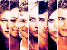 Matt, Bonnie, Klaus, Caroline, Damon, Elena, Stefan