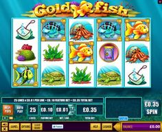 Gold Fish™ from WMS Gaming is one of their Classic series slots sharing that category with Super Jackpot Party™, Mermaid's Gold™, and Reel em in - Big Bass Bucks™. In this game there are 25 paylines that can be staked for as little as 0,01 each plus a 0,10 Feature Bet for a minimum stake of 0,35 and a maximum spin price of 105,00. The game is packed with bonus features!