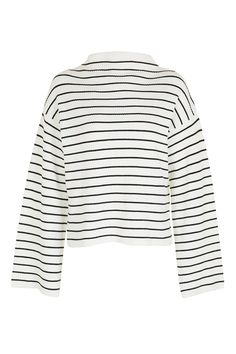 TALL Wide Sleeve Stripe Funnel Neck Jumper - Topshop USA