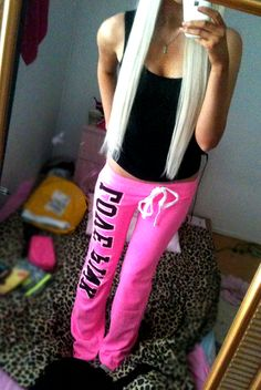 Love pink sweats.